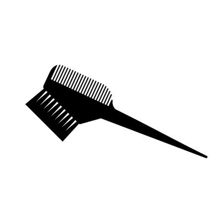 Hair dyeing comb (brush) icon