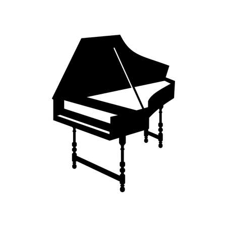 Harpsichord, a big musical instrument icon