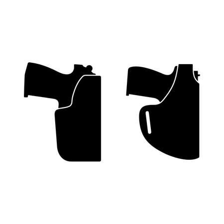 Pistol in the gun holster