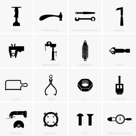 Industrial and repair objects Illustration