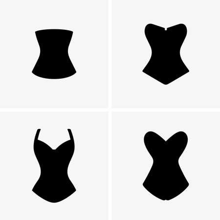 Hold and train corsets Illusztráció
