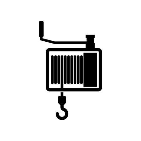 Hand winch icon Stock Illustratie