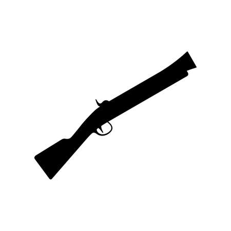 Blunderbuss, firearm with a large short caliber barrel Vettoriali