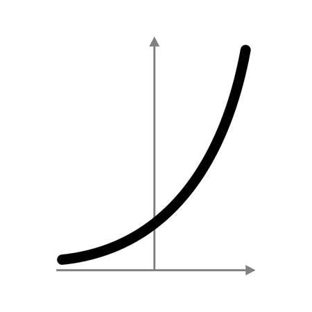 Exponentialfunktionsdiagramm Vektorgrafik