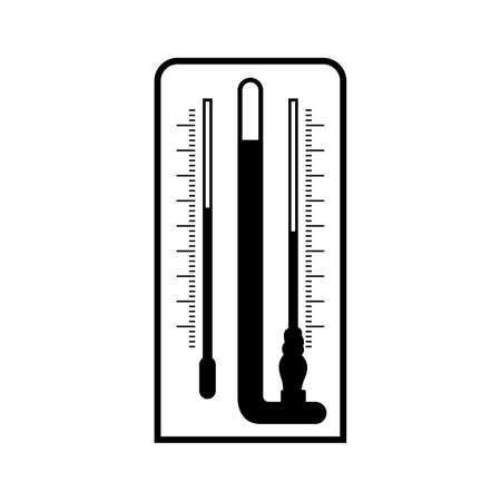 Laboratory psychrometer, a wet-and-dry-bulb thermometer