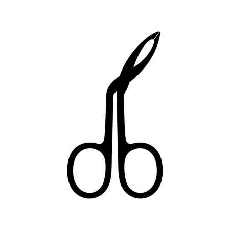 Scissors style eyebrow tweezers