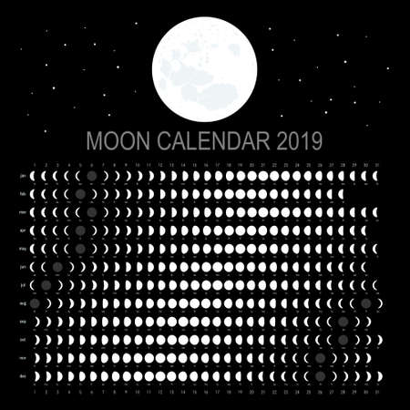 Moon calendar 2019 (Russian version)