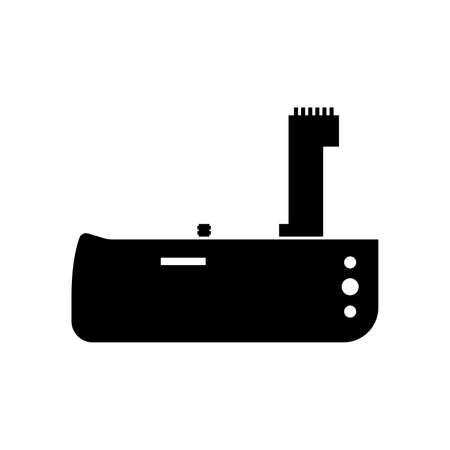 Photo camera battery grip icon Ilustração