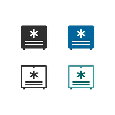 Refrigeration equipment system icons 向量圖像