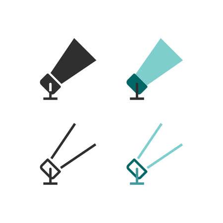 Suchscheinwerfer- oder Scheinwerfersymbole