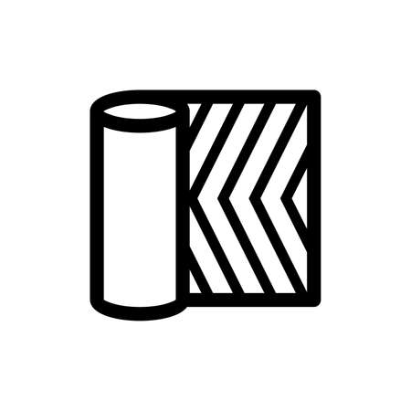 Linoleum roll icon 向量圖像