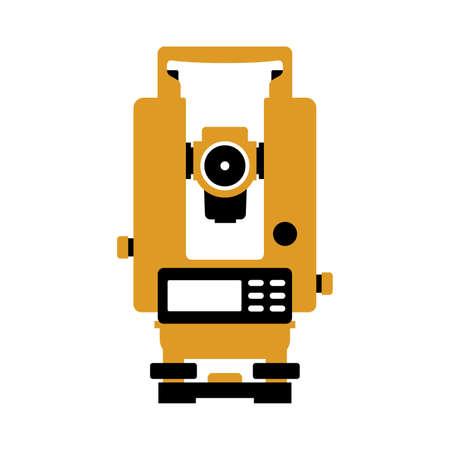 Total station theodolite electronic Illustration