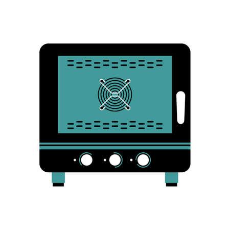 Steamer oven vector illustration 일러스트
