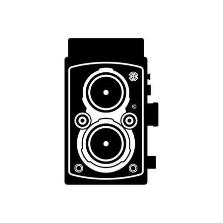 Twin-lens reflex camera Vettoriali