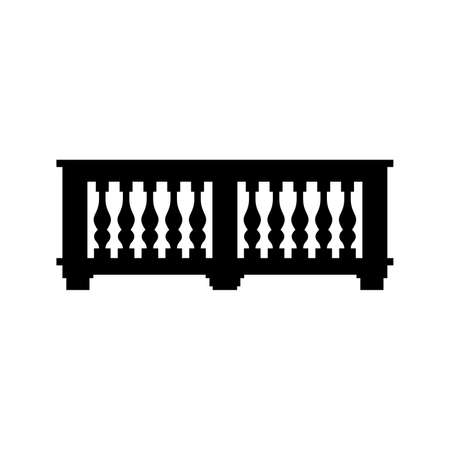 Balcony, building projecting platform with balustrade Stockfoto - 109276730
