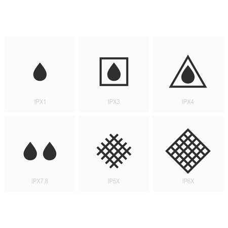 IP (Ingress Protection) Code Symbols Vectores