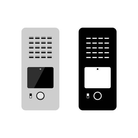 Impianto videocitofonico videocitofonico Vettoriali