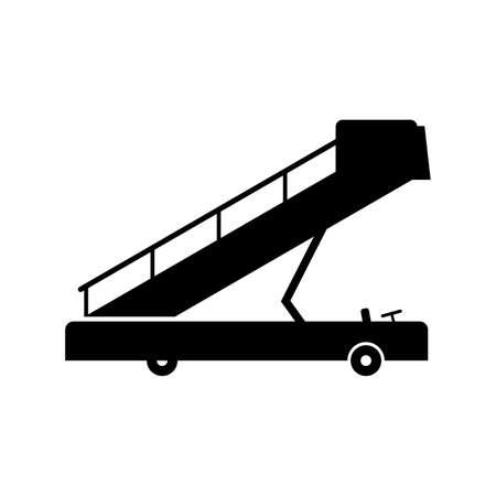 Mobile airport gangway (ladder) illustration. Illustration