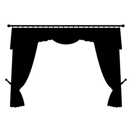 Classic fabric curtains (drapes)