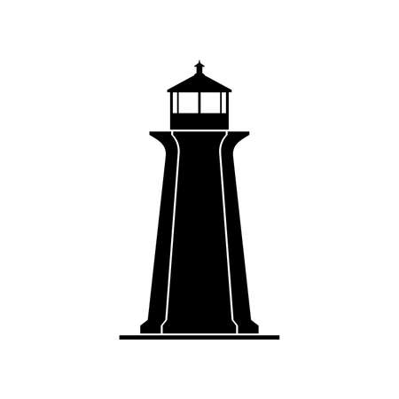 Lighthouse, a tower building Иллюстрация