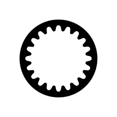 Cogged wheel with internal gearing Illustration