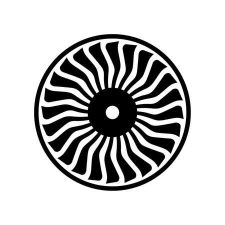 Airplane (jet) turbofan blades Illustration