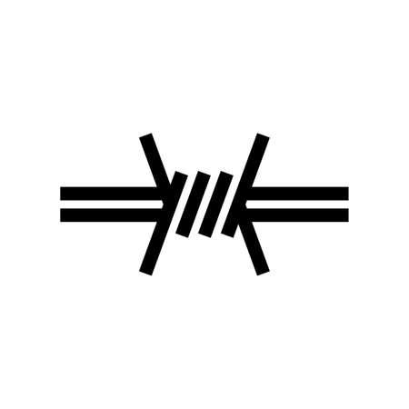Barbed wire knot symbol Ilustração