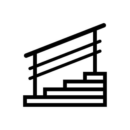 Staircase with handrails and steps Ilustrace