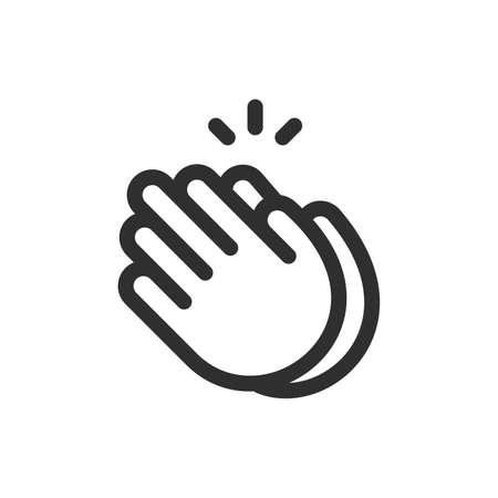 Handen klappen teken