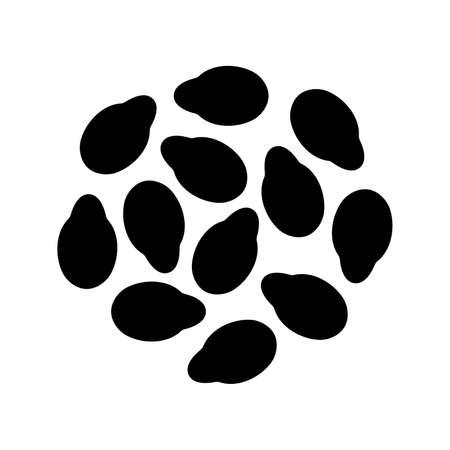 Handful of sesame seeds