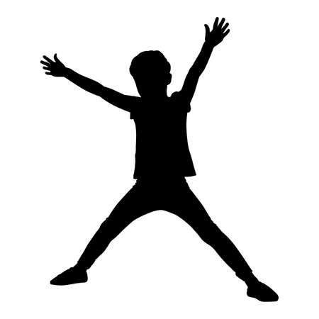 Child wide spread arms and legs