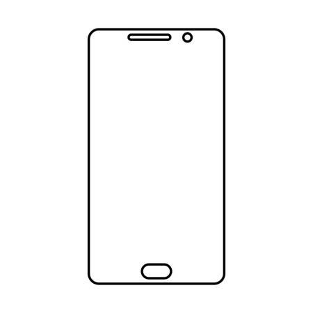 Tempered glass mobile phone screen protector Ilustração Vetorial