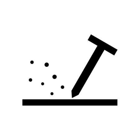 Scratch protection symbol Illusztráció