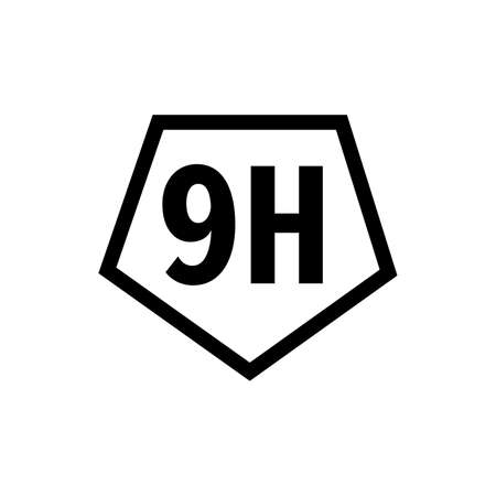 9H surface hardness symbol 일러스트