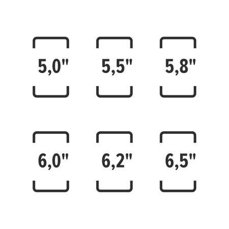 Smartphone screen sizes (resolutions) Illustration