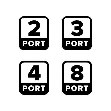 Number (quantity) of ports sign