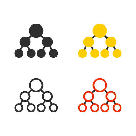 Subdivision staff structure set Ilustração