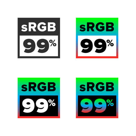 sRGB 99% symbol, set