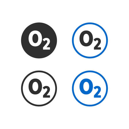 Oxygen formula icon Illusztráció