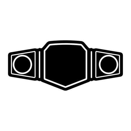 Cinturón de campeonato, trofeo deportivo ganador - Vector