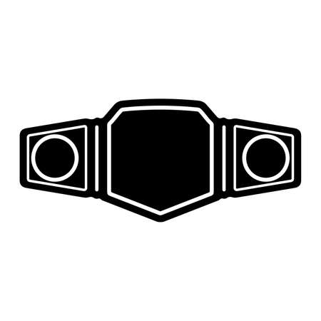 Championship belt, sport winner trophy - Vector Illustration