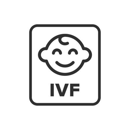 In vitro fertilization symbol - Vector