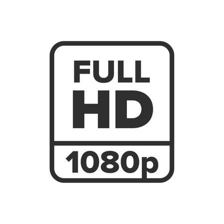 Full HD 1080p symbol - Vector  イラスト・ベクター素材