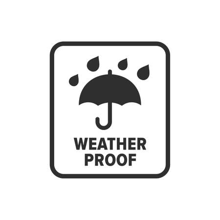 Weather proof symbol - Vector