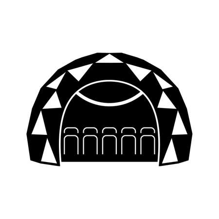 Mobile planetarium dome - Vector