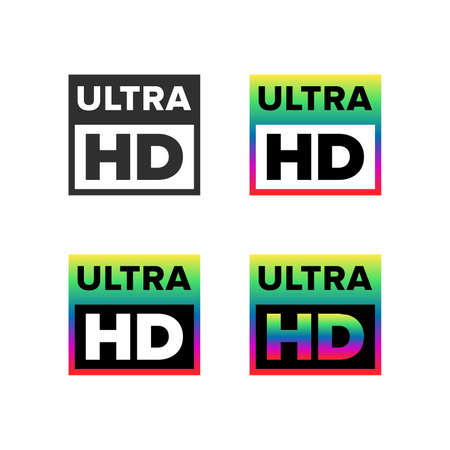 Ultra HD symbol, set
