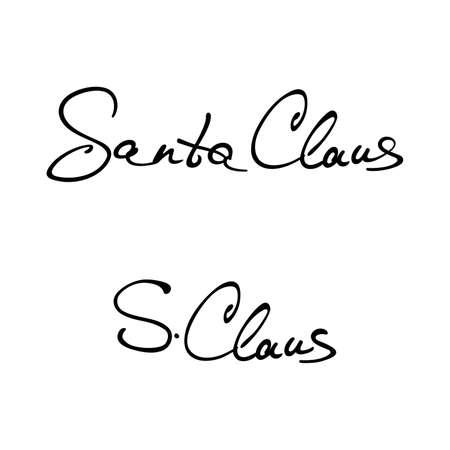 Santa Claus signature stamp - Vector Illustration