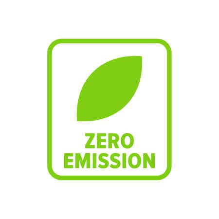 Zero emission symbol - Vector