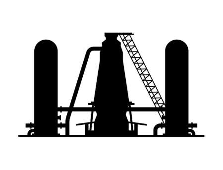 Smelting metallurgical blast furnace - Vector Illustration