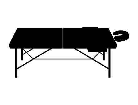 Portable and folding massage table - Vector Иллюстрация